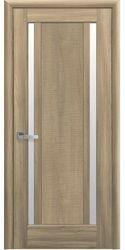 Межкомнатные двери Луиза со стеклом сатин, ПВХ DeLuxe Золотой дуб