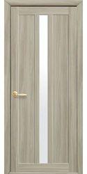 Межкомнатные двери Марти со стеклом сатин, Экошпон  Сандал