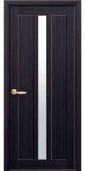 Межкомнатные двери Марти со стеклом сатин, Экошпон  Венге DeWild