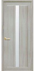 Межкомнатные двери Марти со стеклом сатин, Экошпон  Ясень патина