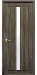 Межкомнатные двери Марти со стеклом сатин, Экошпон  Кедр