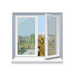 Металлопластиковое окно Rehau стандартное 1300x1400 мм,