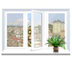 Металлопластиковое окно Veka трехстворчатое 2060х1400 мм,