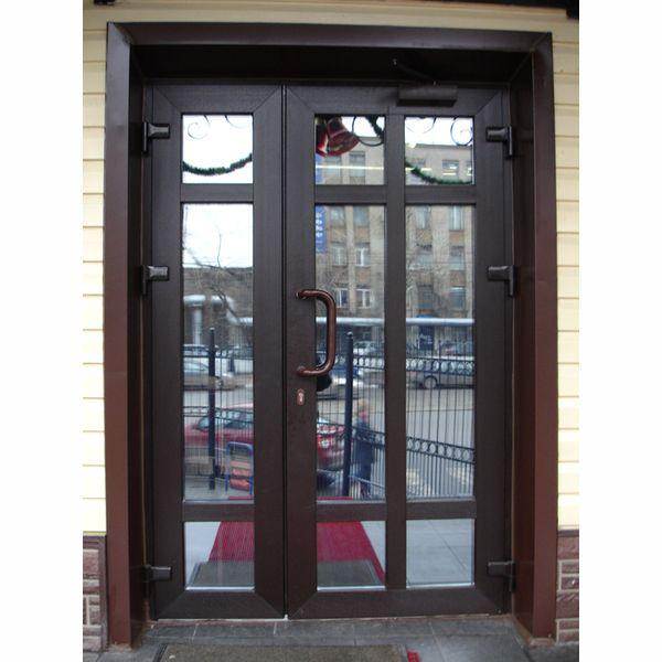 Металлопластиковые двери KBE 1200х2000 темный дуб,