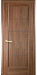 Межкомнатные двери Мира со стеклом сатин, ПВХ DeLuxe Золотая ольха