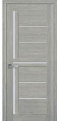 Межкомнатные двери Диана со стеклом сатин, ПВХ Ultra дуб дымчатый