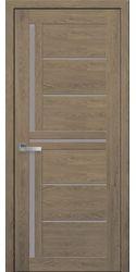 Межкомнатные двери Диана со стеклом сатин, ПВХ Ultra дуб медовый