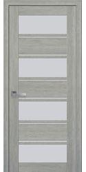 Межкомнатные двери Элиза со стеклом сатин, ПВХ Ultra дуб дымчатый