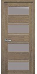 Межкомнатные двери Элиза со стеклом сатин, ПВХ Ultra дуб медовый