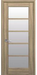 Межкомнатные двери Муза со стеклом сатин, ПВХ DeLuxe Золотой дуб