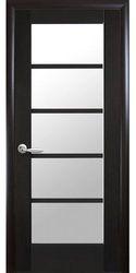Межкомнатные двери Муза со стеклом сатин, ПВХ DeLuxe Венге new