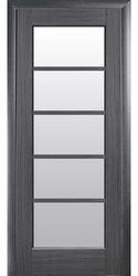 Межкомнатные двери Муза со стеклом сатин, ПВХ DeLuxe Серый