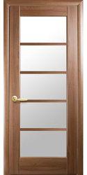 Межкомнатные двери Муза со стеклом сатин, ПВХ DeLuxe Золотая ольха