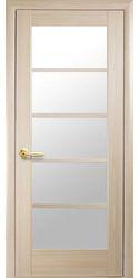 Межкомнатные двери Муза со стеклом сатин, ПВХ DeLuxe Ясень