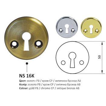 Накладка NS Z55 KVADRO X круглая,