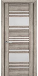 Межкомнатные двери Ницца со стеклом сатин, ПВХ Viva Бук Баварский