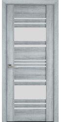 Межкомнатные двери Ницца со стеклом сатин, ПВХ Viva Бук Кашемир