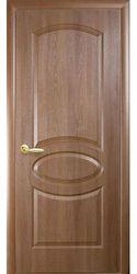 Межкомнатные двери Овал глухое, ПВХ DeLuxe Золотая ольха