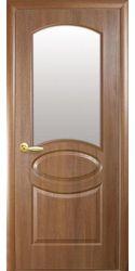 Межкомнатные двери Овал со стеклом сатин, ПВХ DeLuxe Золотая ольха