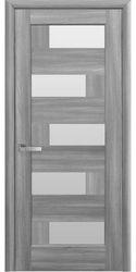 Межкомнатные двери Пиана со стеклом сатин, ПВХ DeLuxe Бук Пепельный