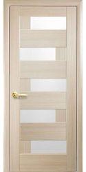 Межкомнатные двери Пиана со стеклом сатин, ПВХ DeLuxe Ясень