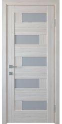 Межкомнатные двери Пиана со стеклом сатин, ПВХ DeLuxe Ясень New