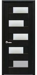 Межкомнатные двери Пиана со стеклом сатин, ПВХ DeLuxe Венге new