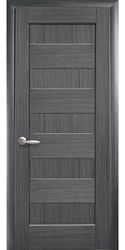Межкомнатные двери Пиана глухое, ПВХ DeLuxe Серый