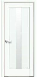Межкомнатные двери Премьера со стеклом сатин, Premium Белый матовый