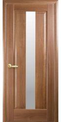 Межкомнатные двери Премьера со стеклом сатин, ПВХ DeLuxe Золотая ольха