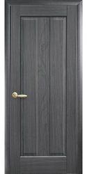 Межкомнатные двери Премьера глухое с гравировкой, ПВХ DeLuxe Серый
