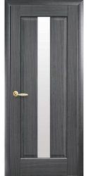 Межкомнатные двери Премьера со стеклом сатин, ПВХ DeLuxe Серый