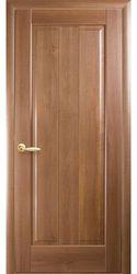 Межкомнатные двери Премьера глухое с гравировкой, ПВХ DeLuxe Золотая ольха