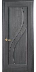 Межкомнатные двери Прима глухое с гравировкой, ПВХ DeLuxe Серый