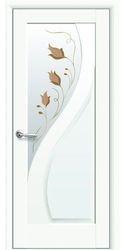 Межкомнатные двери Прима со стеклом сатин и рисунком Р1, Premium Белый матовый