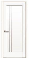 Межкомнатные двери Делла со стеклом сатин, Premium Белый матовый