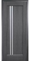 Межкомнатные двери Делла со стеклом сатин, ПВХ DeLuxe Серый
