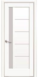 Межкомнатные двери Грета со стеклом сатин, Premium Белый матовый