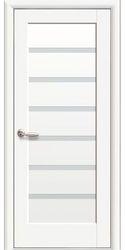 Межкомнатные двери Линнея со стеклом сатин, Premium Белый матовый