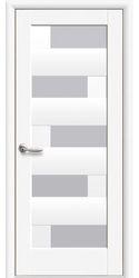 Межкомнатные двери Пиана со стеклом сатин, Premium Белый матовый