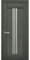 Межкомнатные двери Рейс со стеклом сатин, Нано Флекс Дуб графит