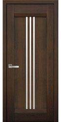 Межкомнатные двери Рейс со стеклом сатин, Нано Флекс Дуб шоколадный