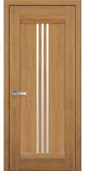 Межкомнатные двери Рейс со стеклом сатин, Нано Флекс Дуб янтарный