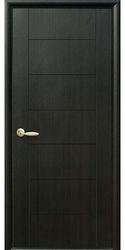 Межкомнатные двери Рина глухое с гравировкой, ПВХ DeLuxe Венге new