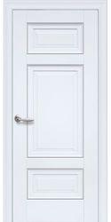 Межкомнатные двери Шарм Глухое с молдингом, Premium Белый матовый