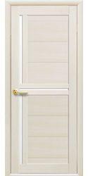 Межкомнатные двери Тринити со стеклом сатин, Экошпон  Дуб жемчужный