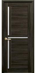Межкомнатные двери Тринити со стеклом сатин, Экошпон  Кедр