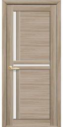 Межкомнатные двери Тринити со стеклом сатин, Экошпон  Сандал