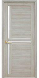 Межкомнатные двери Тринити со стеклом сатин, Экошпон  Ясень патина