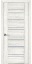 Межкомнатные двери Валенсия со стеклом сатин, ПВХ ДеЛюкс Ясень New